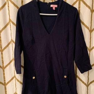 Lilly Pulitzer Dark Blue / Navy Dress Size Large